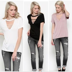 Tops - Front strap relaxed soft top